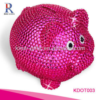 Most Beautiful And Fashion Piggy Bank| Piggy Banks For Kids With Rhinestone|Crystal Bling Decoration