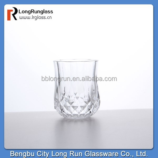 LongRun Home decoration cover carved base tea glass glassware wholesale
