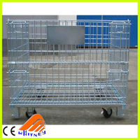 welded wire mesh box pallet mesh trolley,water bottle cage,dog cage for sale cheap