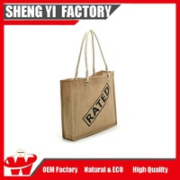 Wholesale Burlap Carry Bag/ Shoulder Tote Bag/Jute Foldable Shopping Bag