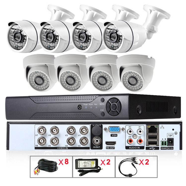 Fast Delivery 8ch 2Megapixels WDR HD AHD DVR Camera System Kit