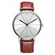 Factory Price Stainless Steel Case Custom Logo Watch with Genuine Leather Band