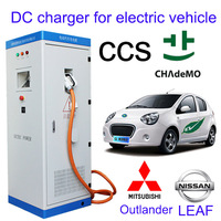 50KW Floor standing electric vehicle AC charging station for Nissian Leaf