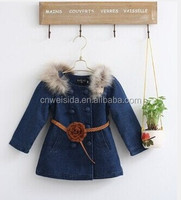 fashion design girl's lovely outwear coat for kids 2014
