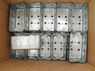 "Jiaxing Brothers Hardware Plastic Co.,Ltd 4""*2"" galvanized steel Electrical box"