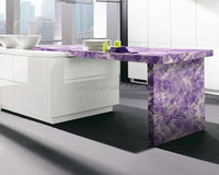 High quality cheap precut amethyst stone prices /marble countertop/granite slab