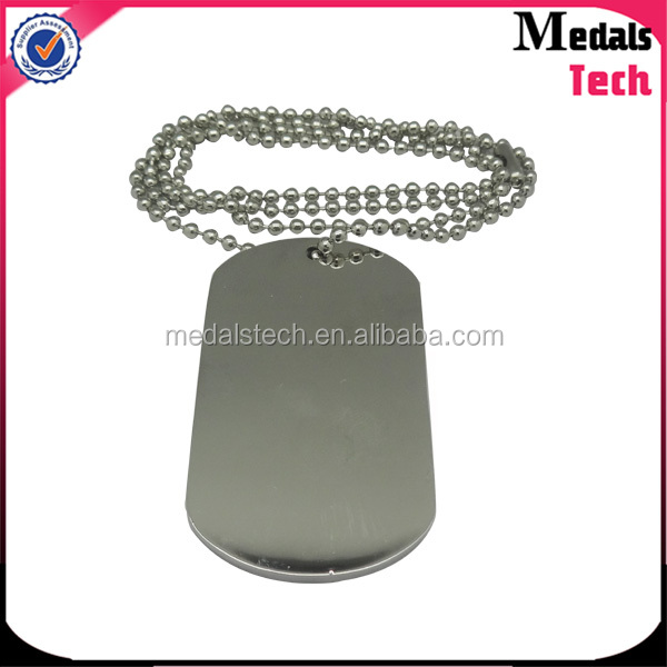 High quality polished stainless steel blank military dog tags