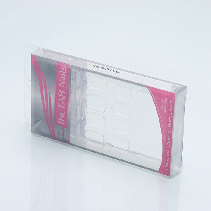 Shenzhen <strong>Manufacturer</strong> Personalized Transparent Folding Retail Boxes PET PVC Clear Plastic False Nail Packaging