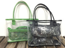 PVC Transparent Clear Beach Bag Handbag,Fashion transparent handbags cosmetic bag,designer clear beach handbag fashion tote bag