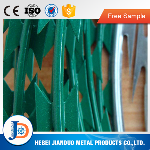 Anping factory free sample CBT-65 concertina razor barbed wire installation