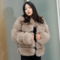 CX-G-A-121B Ladies Fashion Genuine Fox Fur Russian Fur Coats Women Clothes
