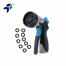 Metal Slip Resistant Rubberized Grip 10 Washers Garden Life Washing Car Pet spray jet fire hose nozzle