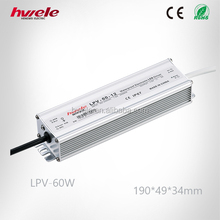 LPV-60W LED driver supply with SGS,CE,ROHS,TUV,KC,CCC certification