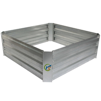 Square Galvanized Metal Garden Raised Vegetable Planting Beds