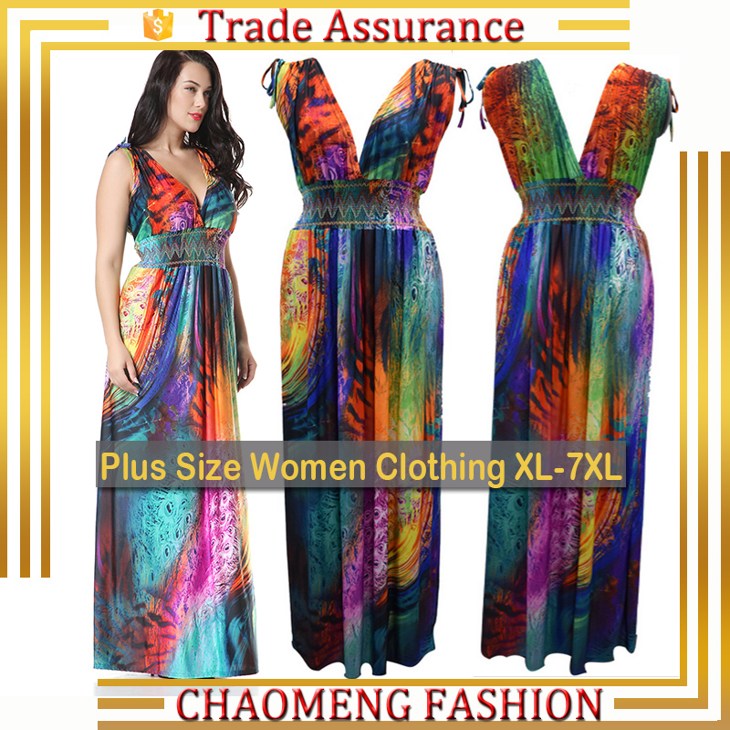 6040#BestSeller Cheap Price High Quality Angela Maxi Dresses Long Summer bohemian Floral Beach Sundress Plus Size Women Clothing