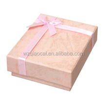 rigid box gift packaging box factory price two piece with ribbon