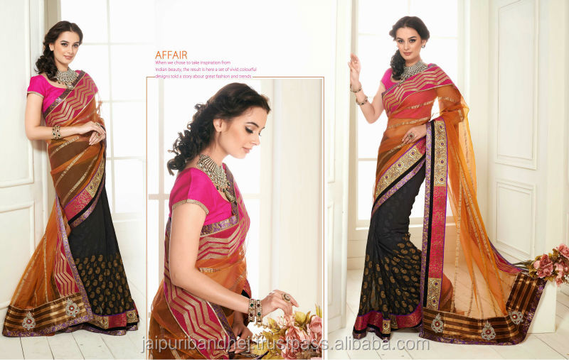 Fancy work saries indian lady sari india wholesale sarees all types of indian sarees