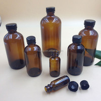 16oz Pharmaceutical Bottle Amber Glass Boston