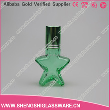 10ml simple green star refillable empty roll on glass bottle