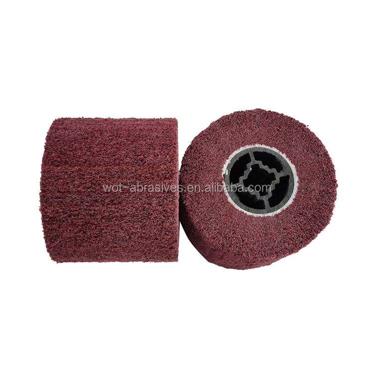 china manufacture abrasive non woven 3M quality combination Brush Drawing wheel