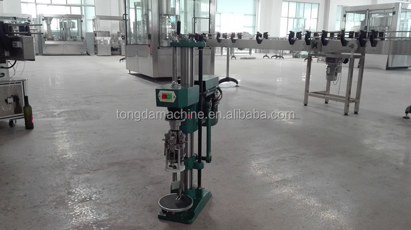 semi automatic capping/sealing machine for aluminum screw caps