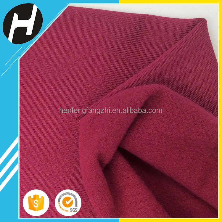 Hot sale Latest Style jersey knit elastane brushed polyester spandex fabric