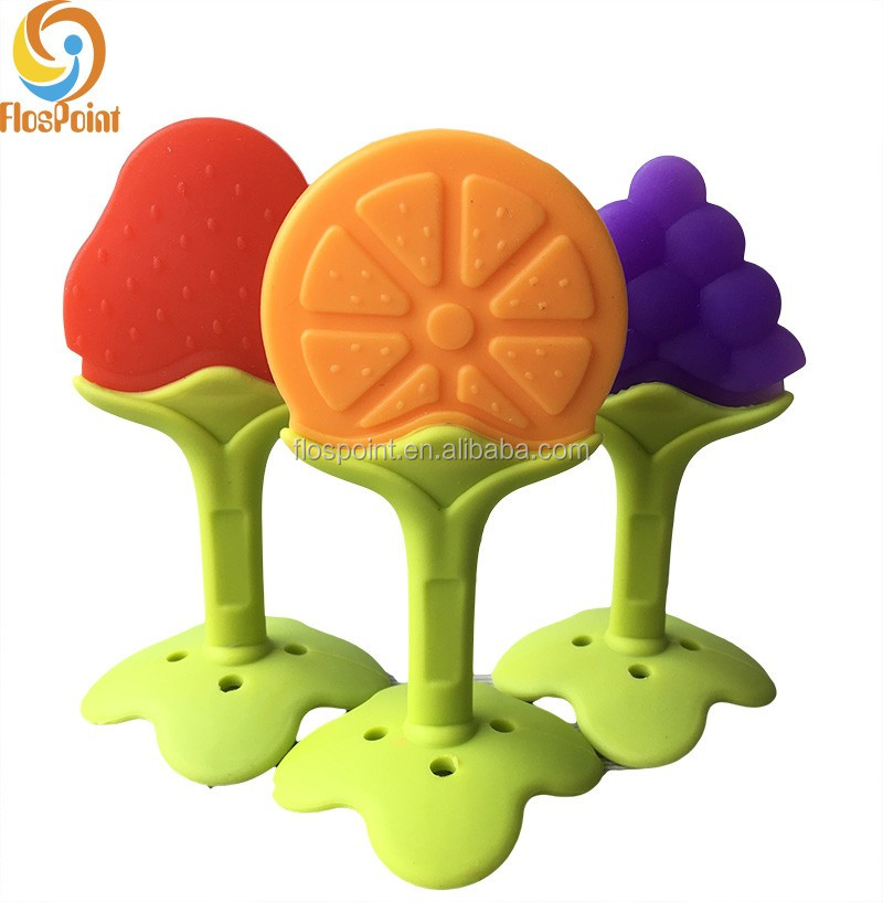Wholesale Various Teething Shapes Fruit Aching Gums Teether/Soother
