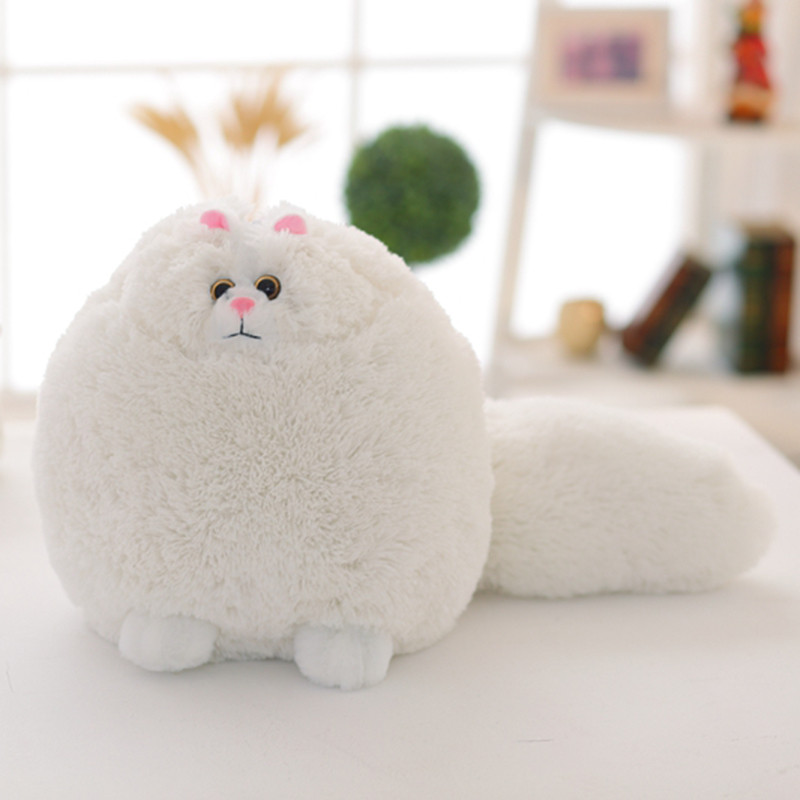 Elliot cute Persian simulation doll, fat cat plush simulation stuffed animals, children's holiday gifts