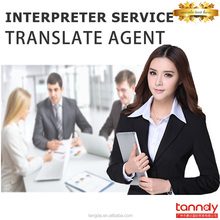 China buying sourcing agent multi-language translator interpreter