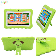 Christmas Gift Children Learning Educational APP Installed Android Kids Tablet with silicon case