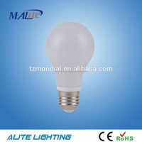a60 led bulb 90lm/w glass cover 7w led bulb