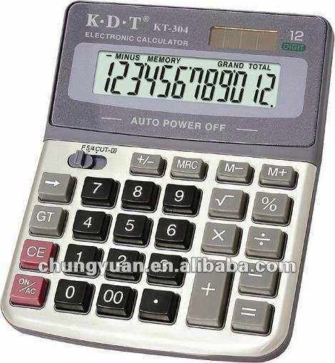 12 digits scientific electronic calculator KT-304