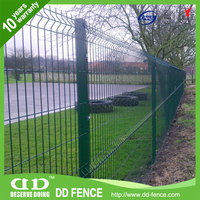PVC coated welded mesh panel/3d folds welded wire mesh fence