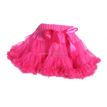 Fast delivery Hot Pink Fluffy Tulle Skirt Girl fluffy tutu skirt for for 3-year old girl
