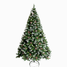 2016 PE&PVC Artificial Christmas tree with circle/ball/stars/led light,outdoor Christmas decoration,wholesale