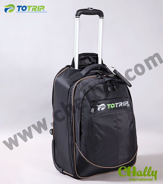 Waterproof nylon laptop trolley travel bag