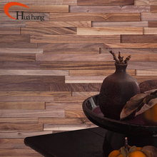 Customized Decorative Black Walnut Wood Wall Cladding System Panel