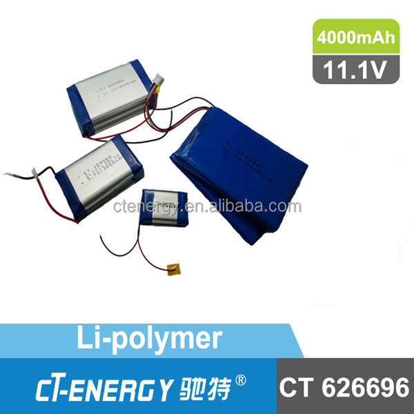 Lithium ion battery pack 3.7V with 4000mAh for Laptop 626696