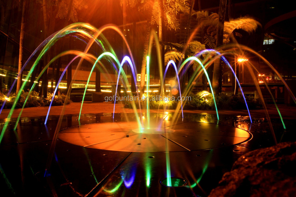 Factory Supply Colorful Laminar Jumping Jets Fountain