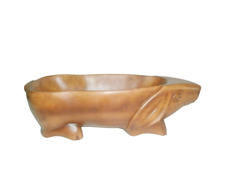 Rosewood Nut/Fruit Bowl in Shape of Rabbit