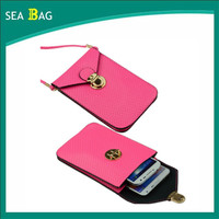 Universal PU Leather Mobile Phone Bag Case Shoulder bag for cell phone