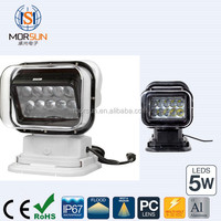 50W LED remote control search light 360 degree Boat LED remote control search light marine