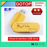 Cheap fashion design promotional gift custom laser engraving logo bamboo wooden usb flash drive usb disk memory stick recyclable