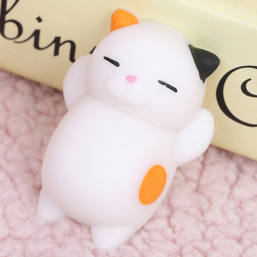 3D Kawaii Animals Soft Mochi Squeeze Squishy Cat Toys for Kids