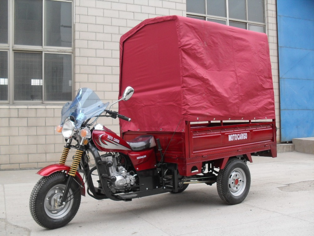China high quality cargo tricycle/three wheel motorcycle with tent