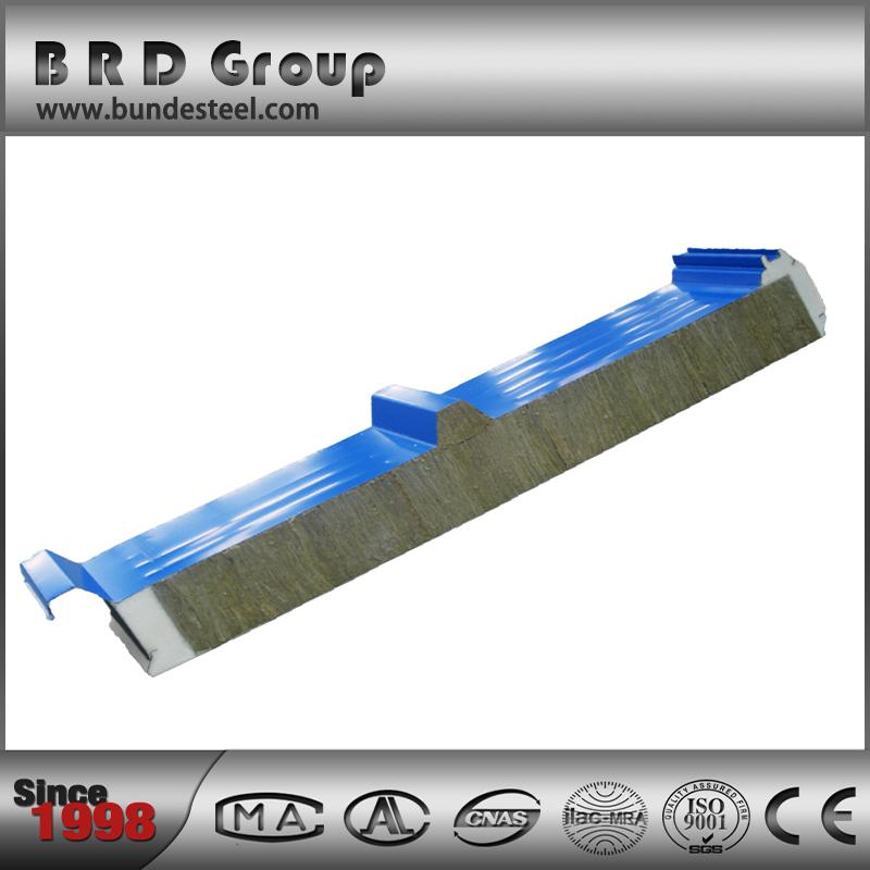 Fireproof soundproof pu rockwool insulating core panels for Fireproof rockwool