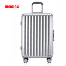 Aluminum frame trolley case caster suitcase student suitcase 20 inch female male password suitcases luggage travelling luggage f