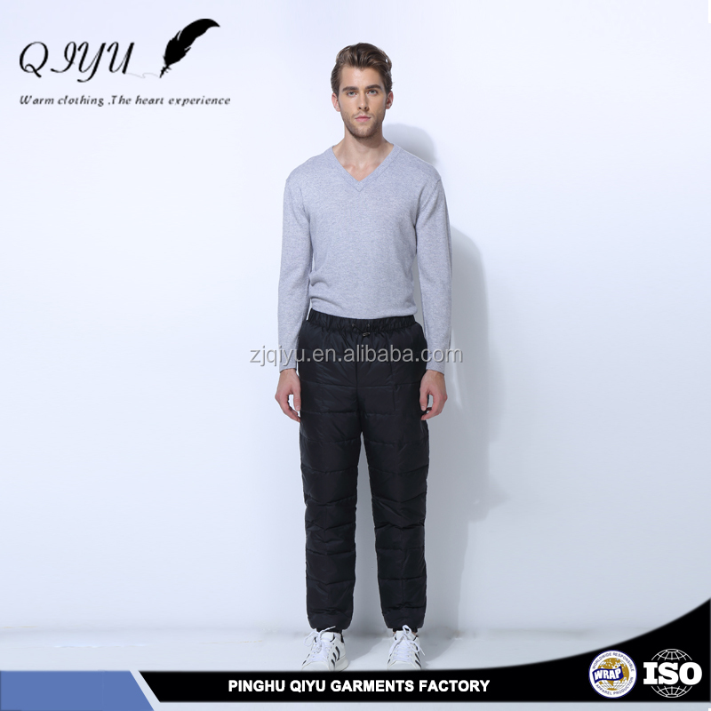 Solid Color down pants woodland pants