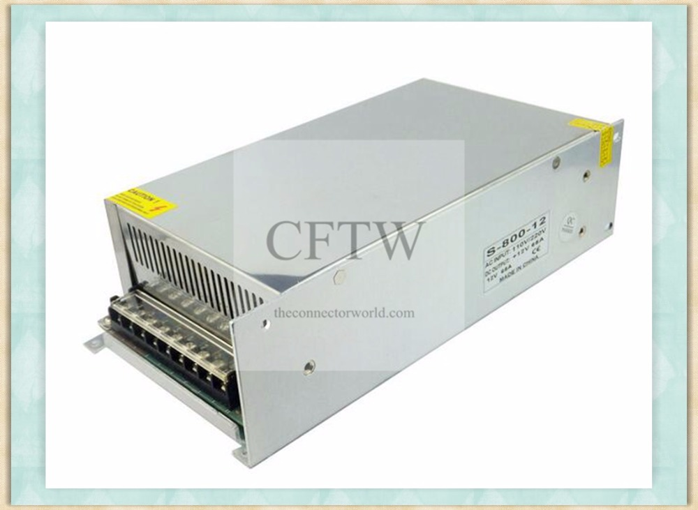 High Power AC 100-240V Input to DC 12V 66A 800W Voltage Transformer Switch Power Supply for LED Strip,CCTV, Radio