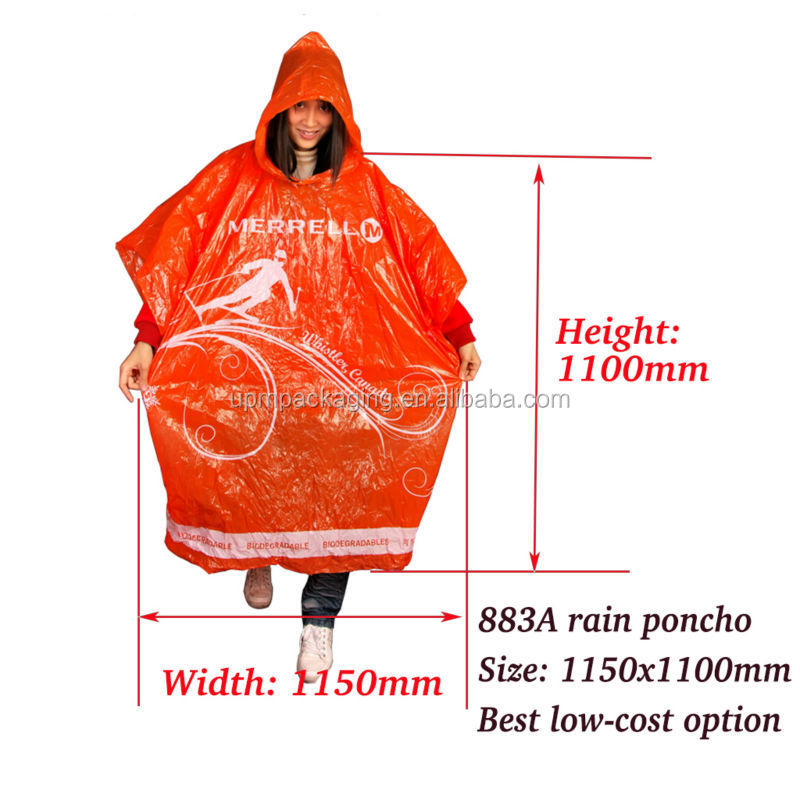883A rain poncho with dimension